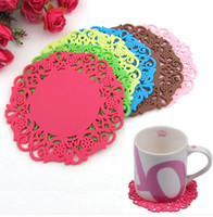 Wholesale Silicone Coaster Mat Pad Cushion for Tea Cup Bowl Wine Glass Plate Sundries