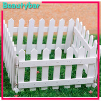 Wholesale White fence partition screen wood fence guardrail