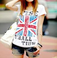 New Pop Fashion England UK British Flag Pattern Slim Embelli...