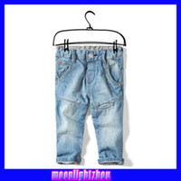 Wholesale girls Jeans Children Jean kids pants blue denim pants trousers lyy