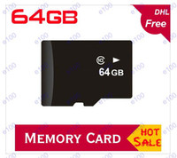 Wholesale 64GB Micro SD Card TF Memory Card Class high speed Retail Package D60 D70 D80 from E100