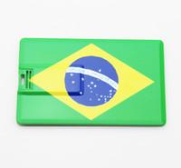 No usb flash drive novelty - real GB GB GB GB GB novelty credit card Brazil flag shape USB Flash Drive Pen Drive Memory Stick pendrive drop US0752