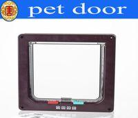 Wholesale Cat Door Kitten Small Dog Pet Way Flap Lock Safe Lockable Pet Supplies