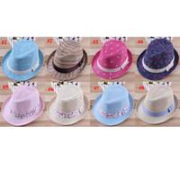 Boy baby hat - Baby Children Hats Kids Top Hat Boys Girls Fedora Caps Headgear Colors MZ024