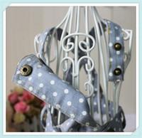 Wholesale 50pcs Adorable New Soft cotton Pet Puppy Dog Strap dot jeans Clothes Clothing Dress Apparel