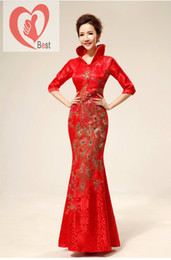 Wholesale Best selling Traditional chinese clothing cheongsam women s formal dress chinese wedding dress cheongsam