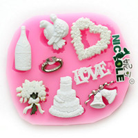Modelling Tools bell cakes - F0533 silicone decorations molds christmans cake heart angel bell bottle love flower fondant cake tools silicone resin clays molds