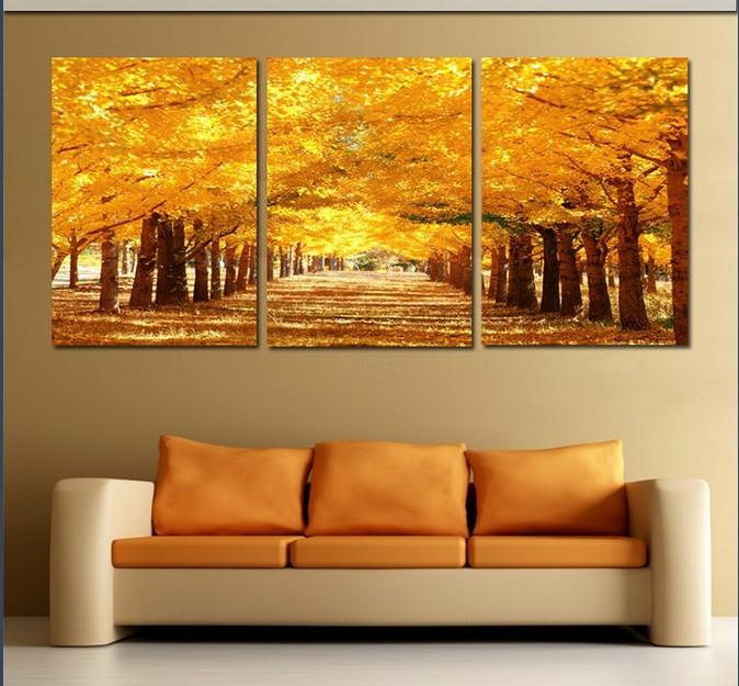 Three Panel Wall Paintings