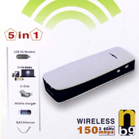 Wholesale 5 in Mini Mbps Wireless hotspot G Router Mobile Hotspot amp Charger mAh nc08