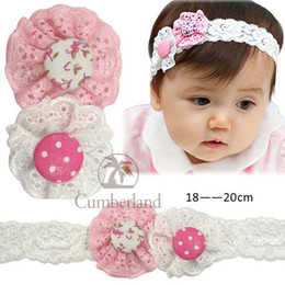 Baby Headbands Girl Mesh Flower hairbands Children Hair Accessories Two Flower Hair Ornaments With Buttons On Center Headbands 10pcs