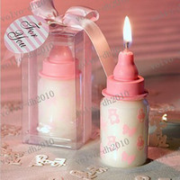 arabic wedding favors - LLFA2406 Arabic wedding favors Pink Baby Bottle Candle Favor with Baby Themed Design for baby shower and baby gift Wedding gift