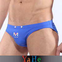 Wholesale 2013 Sale Men Sheer UnderwearThong Penis Sheath Colors Polyester Mens Mesh Briefs Boxer Shorts YAHE Brand MU1009B