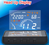 Wholesale Samrt Hot selling OBDII amp EOBD Insert HeadUp Display HUD S301 Fuel Consumption Speed Car English Voice Prompt Bluetooth Supported