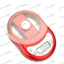 Wholesale LLFA2409 kg g Electronic Kitchen Scale Toughened Glass Scale Pan with Clock Countdown Alarm Function Red