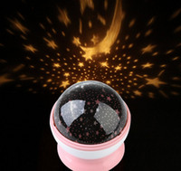 Wholesale New Room Night Light Lamp Rotary Flashing Starry Star Moon Sky Cosmos Projector Pink