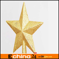 Wholesale Christmas Decoration Wire Five pointed Star Christmas Tree Topstar Accessories