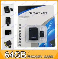 TF / Micro SD Card 64GB 50pcs 64GB Micro SD SDHC MicroSD TF memory card 64GB Gift For MARK11 5D 60D 70D 6D 600D