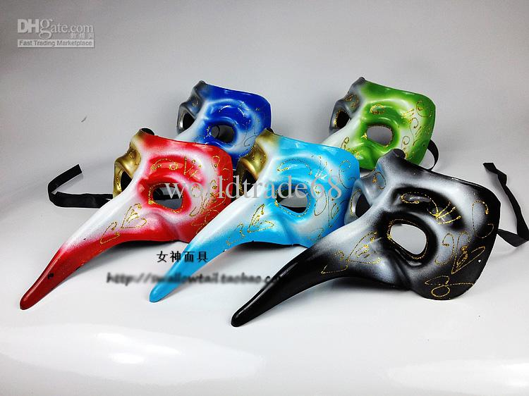 Pictures of Mask Long Mask Bird Mask Silver Green Venice ...
