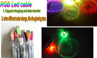 Wholesale 30pc RGB LED flashing Smile face Mirco pin V8 m Sync USB Cable for Samsung HTC Blackberry NOKIA LG sony