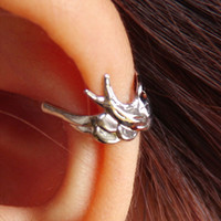 Wholesale Bird Ear Cuff Gold amp Silver Punk Style Fashion Jewelry Warp Ear Clip Earrings