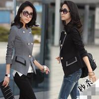Women Blazer Formal Korean Women' Fashion Blazer Long Sleeve Slim Show Thin double-breasted Small Suits Elegant Ladies Work Suits New Autumn Clothing S0039#