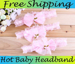 Baby Headbands Girl Lace Chiffon Flower hairbands Hair Accessories Lace Frilly Hair Ornaments Kids Lace Headbands With Small Pearl