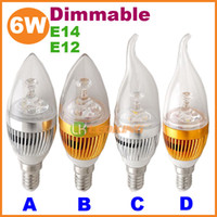 Wholesale 2013 New W dimmable led candle light bulb E14 E12 for Chandelier V V CE ROHS