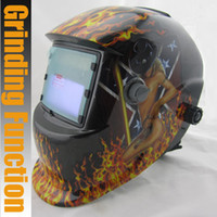 auto grinding machine - Solar auto darkening filter electric welding mask welding helmets cap with grinding for MIG TIG MMA welding machine equipment