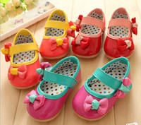 Wholesale 10 off yards children shoes cute double bow baby prince toddler shoes High quality baby cheap shoes china shoes pairs ZL