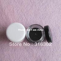 Plastic plastic cosmetic containers - white black cream jar cosmetic container plastic bottle display bottle sample jar cosmetic packaging