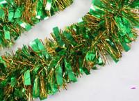 Wholesale Hot m Green Color Aluminum foil Color Bar Festivals Decoration Christmas Halloween decoration