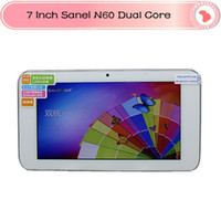 Wholesale DHL Sanei tablet pc android tablets inch sanei N60 Allwinner A20 Dual core MB RAM GB ROM android Webcam HDMI OTG