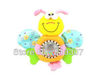 0-12 Months bee teether - Christmas gift R Chicco Soft Toy Bee Baby Hand Bell Placate Plush Teether Toy