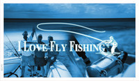 Wholesale ba729 I Love Flying Fishing Display Banner Shop Sign