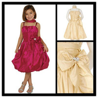 Model Pictures Girl Applique Short Flower Girl Dresses 2013 G020 From China