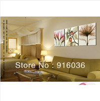 Oil Painting Unframed Yes Huge Modern Picture Decorative Painting Wall Hanging Canvas Living Room Print Combination Art Flower pt25