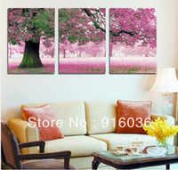 Oil Painting Yes Abstract Huge Picture Painting Combination Modern Canvas Paint Tree Art Flower Print Pink Wall Hanging pt28