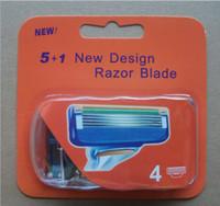 Wholesale Factory sale fushion4 razor blades for men with packaging Shaving razor blades care EU US RU pack