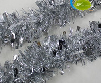 Wholesale Hot m Silver CHRISTMAS GARLAND Tinsel Color Bar Garlands Festivals Decoration