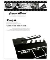 Wholesale Clapperboard Clapper Board TV Film Movie Slate wooden Movie Director Clap Stick Slate Cut acrylic black white