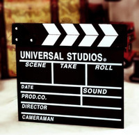 Wholesale Clapperboard Clapper Board TV Film Movie Slate wooden Movie Director Clap Stick Slate Cut acrylic black white
