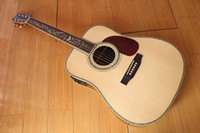 Wholesale NEW BRAND ACOUSTIC D45 GUITAR WITH FISHMAN IN FLOWER INLAY IN NATURAL COLOR