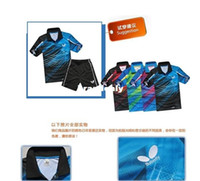 Wholesale Butterfly table tennis badminton clothing men s track suit sweat shirt jersey quick drying fashion badminton sets