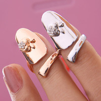 Wholesale 2013 punk apple finger nail ring women fake nail art ring fashion jewelry