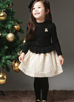 Wholesale 2013 Baby Kids Clothing Children s Outwear Children s Coat dresses Knitting lace Ruffled skirt of the girls