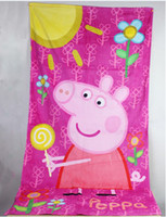 Beach towels   Wholesale- HOT!!! Children's Kids PEPPA peppa pig Beach towels beach Kids towel towel the best size 70cm*140cm 1pcs