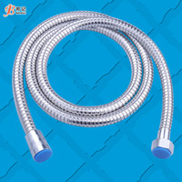 Wholesale low price meters stainless steel shower double buckles explosion proof plumbing hose shower plumbing hose nozzle tube