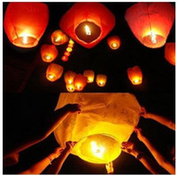 Multicolor Heart PA Free Shipping Chineses Lantern Sky Lantern Kongming Lantern Flying Wishing Lamp Wedding Party Paper Lights hot-air balloon