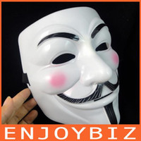 Wholesale 100PCS V for Vendetta Mask Guy Fawkes Halloween Party Face Mask Costume Mask WM02