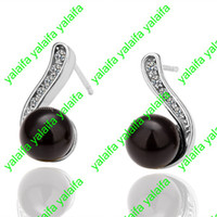 Wholesale High Quality New Fashion Jewelry Pair K Gold Plated Austrian Crystal Earring LKN18KRGPE024